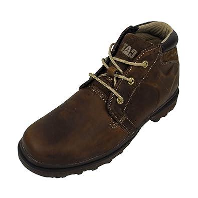 b2f46b162730 Mens Caterpillar CAT Judd Brown Leather Mid Cut Boot Chukka Boots Ankle UK  12