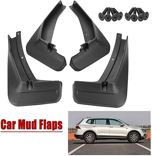 Car Mud Flaps Mudguards for V-W Tiguan L 2017-2019 Front Rear Splash Guards Car Fender Styling /& Body Fittings Black 4Pcs Full Wheel Protection from Dirt
