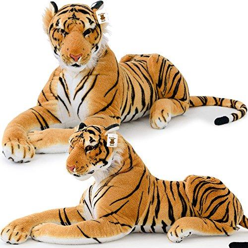 Plüschtier Tiger Plüsch liegend 136cm Stofftier Kuscheltier Stofftiger Riesig