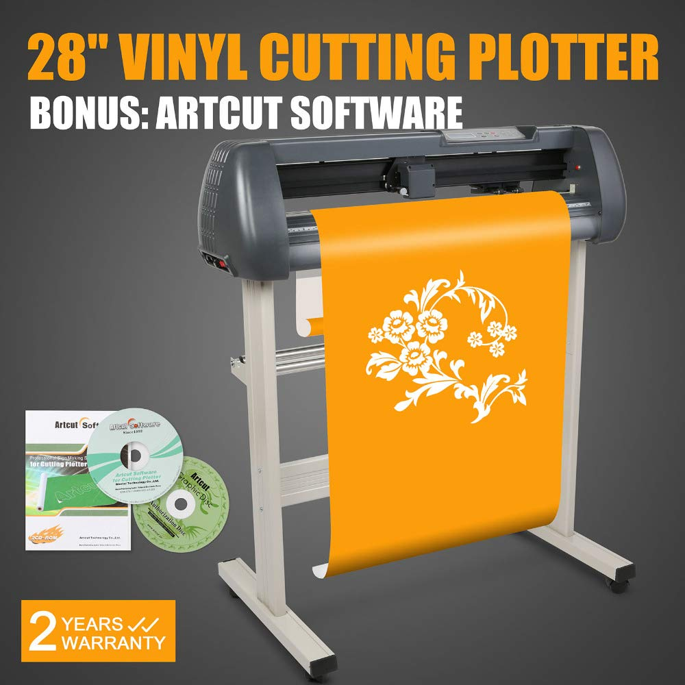 FINCOS Cutting Plotter Cutter 28'' 720MM Vinyl Sign Making KIT W/ARTCUT Software Cutting Plotter Machine