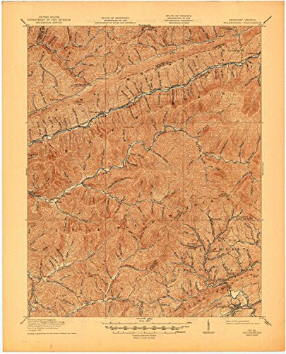 YellowMaps Nolansburg KY topo map, 1:62500 Scale, 15 X 15 Minute, Historical, 1919, Updated 1945, 21.2 x 17.2 in - Tyvek