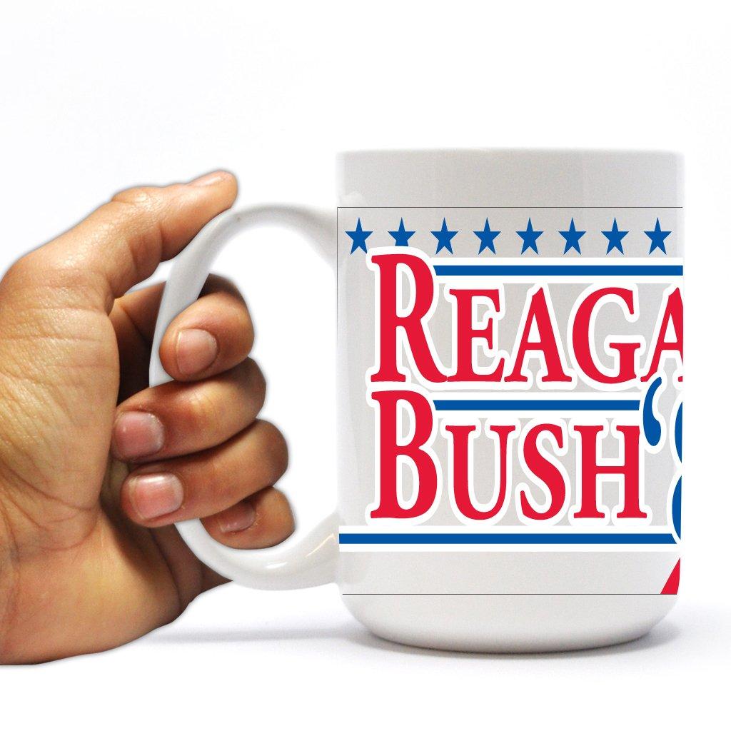 15oz VictoryStore Ceramic Mugs Political Coffee Mug Reagan and Bush 84