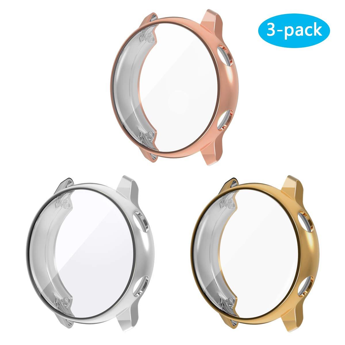 3 Protectores Para Samsung Galaxy Watch Active [rg+s+g]