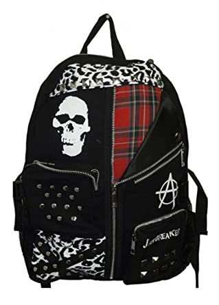 2ff58b07c48b1 Jawbreaker Skull Anarchy Punk Rock Backpack Rucksack Black One Size ...