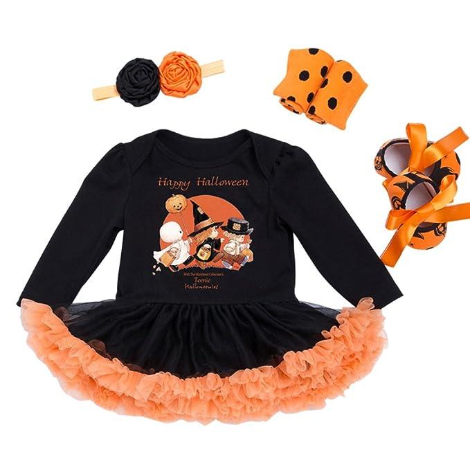Bebé Princesa Vestido Halloween Diadema Niña Mágico Fantasía Traje Tul Carnaval Ropa Disfraz Conjunto Fiesta Cosplay Fotografía Romper Infantil ...