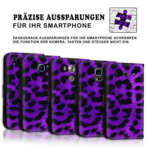 Wallet Book Style Flip Handy Tasche Case Schutz Hülle Schale Motiv Etui für Apple iPhone 4 / 4S - Design Flip MVD400