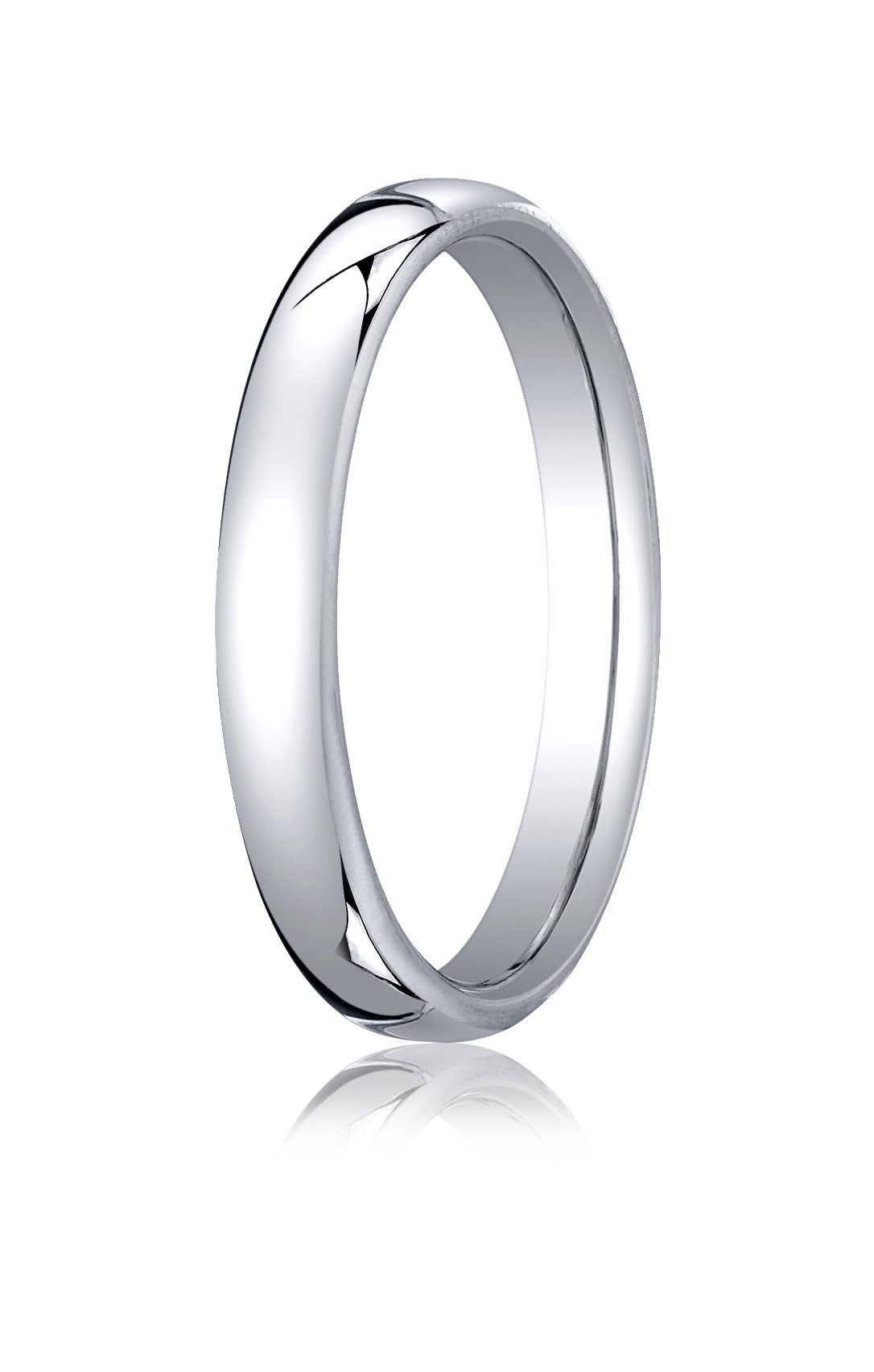 Mens 10K White Gold, 3.5mm London Couture Comfort-Fit Ring (sz 8)