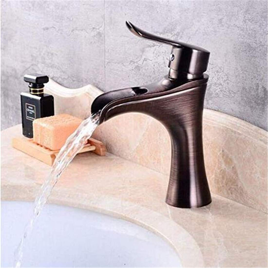 Modern Heiß Und Kalt Vintage ÜberzugEuropäisches Waschbecken Im Unteren Becken Heißes Und Kaltes Wasser Einlochmontierter Wasserhahn