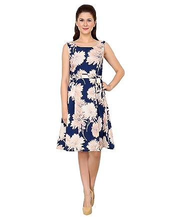 94c91ee64862 VASTRASUTRA Women s Floral Print Sleeveless Crepe Dress (XX-Large ...