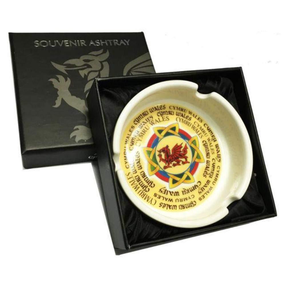 Wales Celtic Dragon Boxed Ceramic Ashtray [wh205] Pendragon