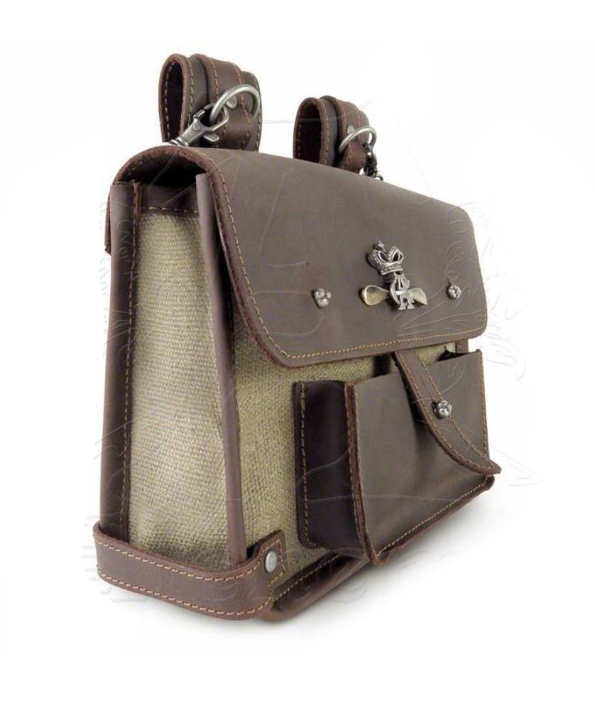 Steampunk Brown Canvas and Leather Wing-Commander's Attache Pouch by Alchemy Gothic by Alchemy Gothic (Image #4)
