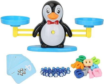 Tnfeeon Juguete de la Escala de Equilibrio del Juego matemático, número Respetuoso con el Medio Ambiente Agregar resta Juego de Mesa de Tablero de Inteligencia(Pingüino): Amazon.es: Juguetes y juegos