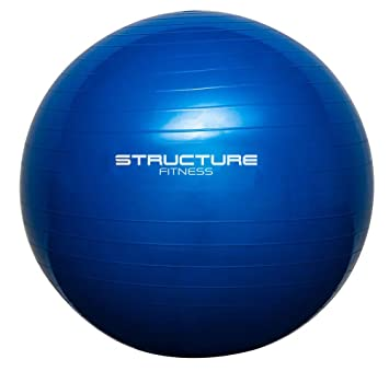 Structure Fitness ® Anti-Burst 65cm Exercise Gym Ball with Hand Pump –  Perfect Swiss