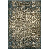 Oriental Weavers 8020L Pasha Area Rug, 23 x 76, Beige/Blue