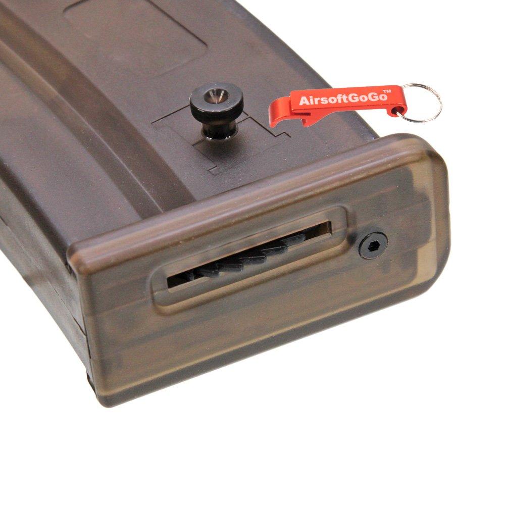 Cargadores AirsoftGoGo CYMA 450rd Hi-Cap Cargador para G36/G36C Serie Airsoft AEG Llavero Incluido