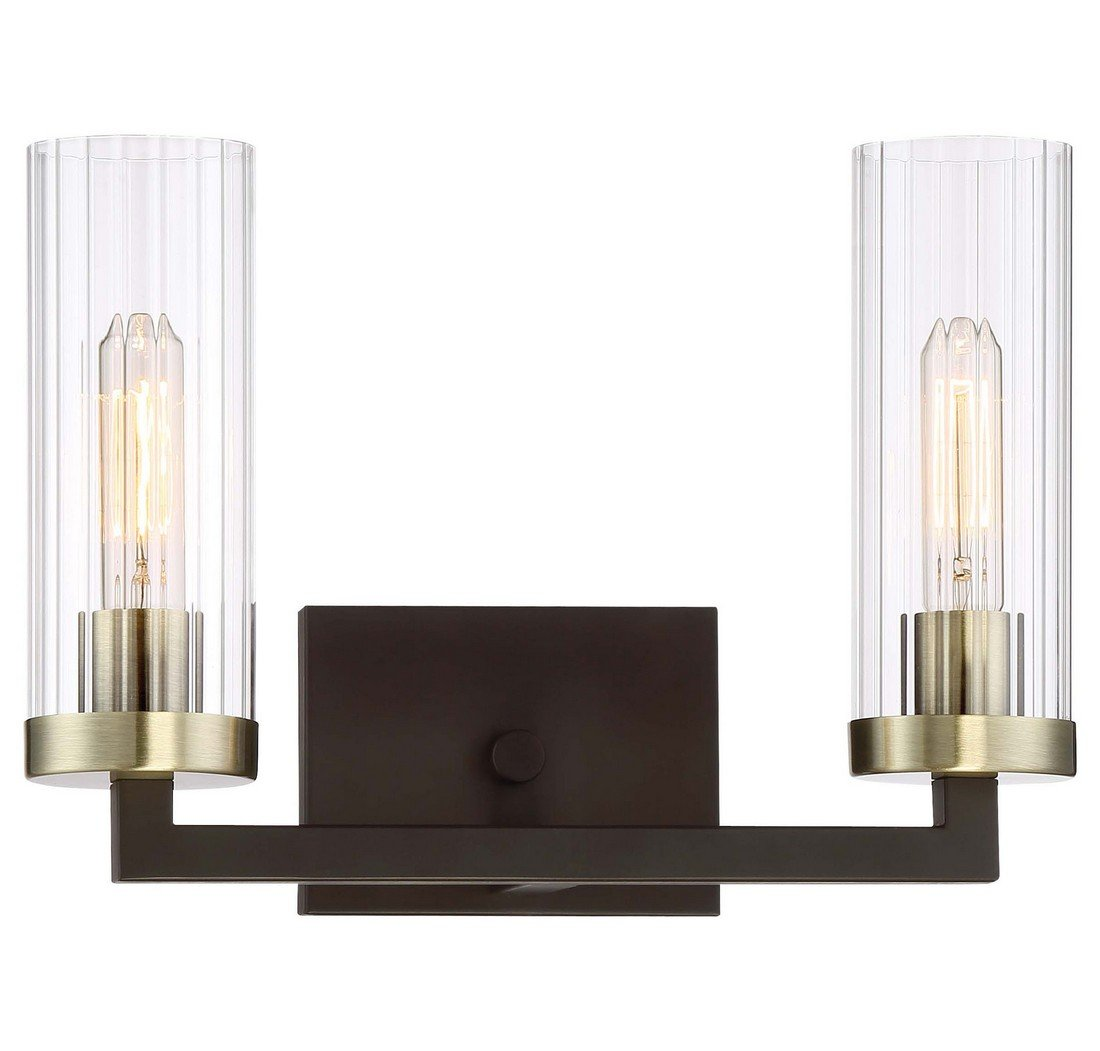 Minka Lavery Minka 3042-560 Contemporary Modern Two Light Bath from Ainsley Court Collection in Bronze/Darkfinish