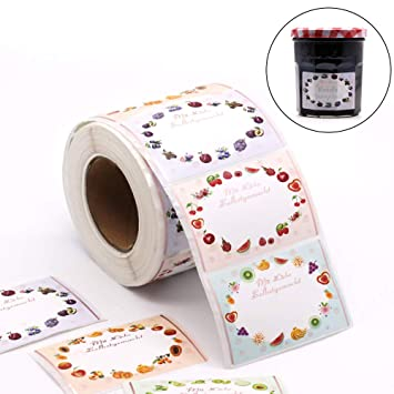 500 Etiketten Marmelade Selbstklebend Klebeetiketten Für