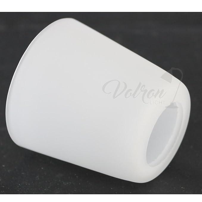 Ersatzglas Leuchtenschirm Lampenglas /Ø48mm konische Form wei/ß matt G9