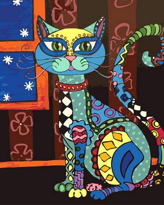 Puzzle De Madera Adulto 1000 Piezas Gato De Dibujos Animados De ...