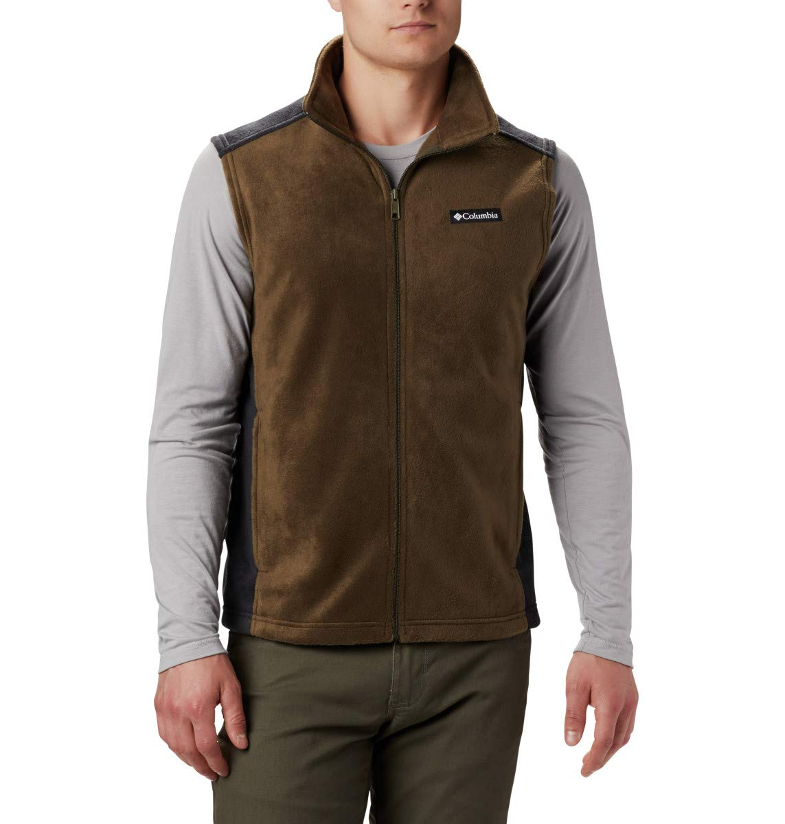 Columbia Men's Steens Mountain Vest, Olive Green, Black, Large by Columbia