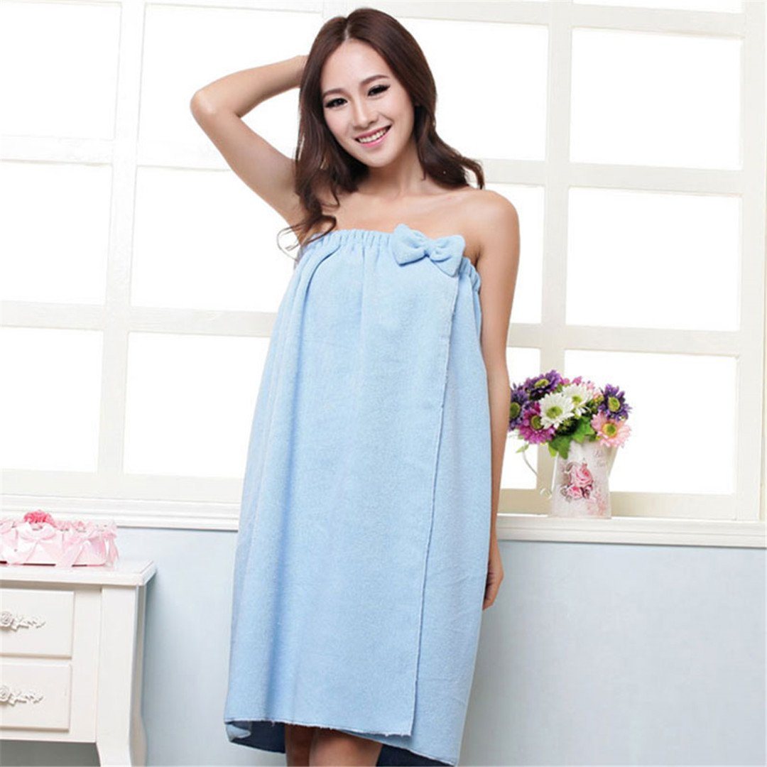 Microfiber Soft Women Girls Shower Body Spa Bath Wrap Towel Bathrobe Bath Robe