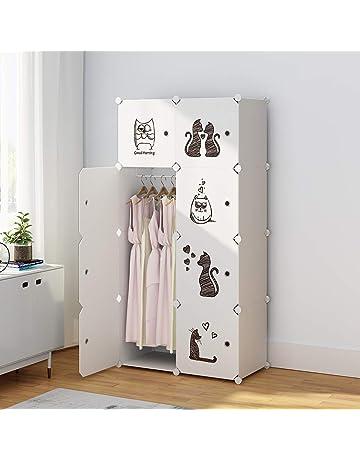 dfdd16ebc KOUSI Portable Clothes Closet Wardrobe Bedroom Armoire Dresser Cube Storage  Organizer, Capacious Customizable-White