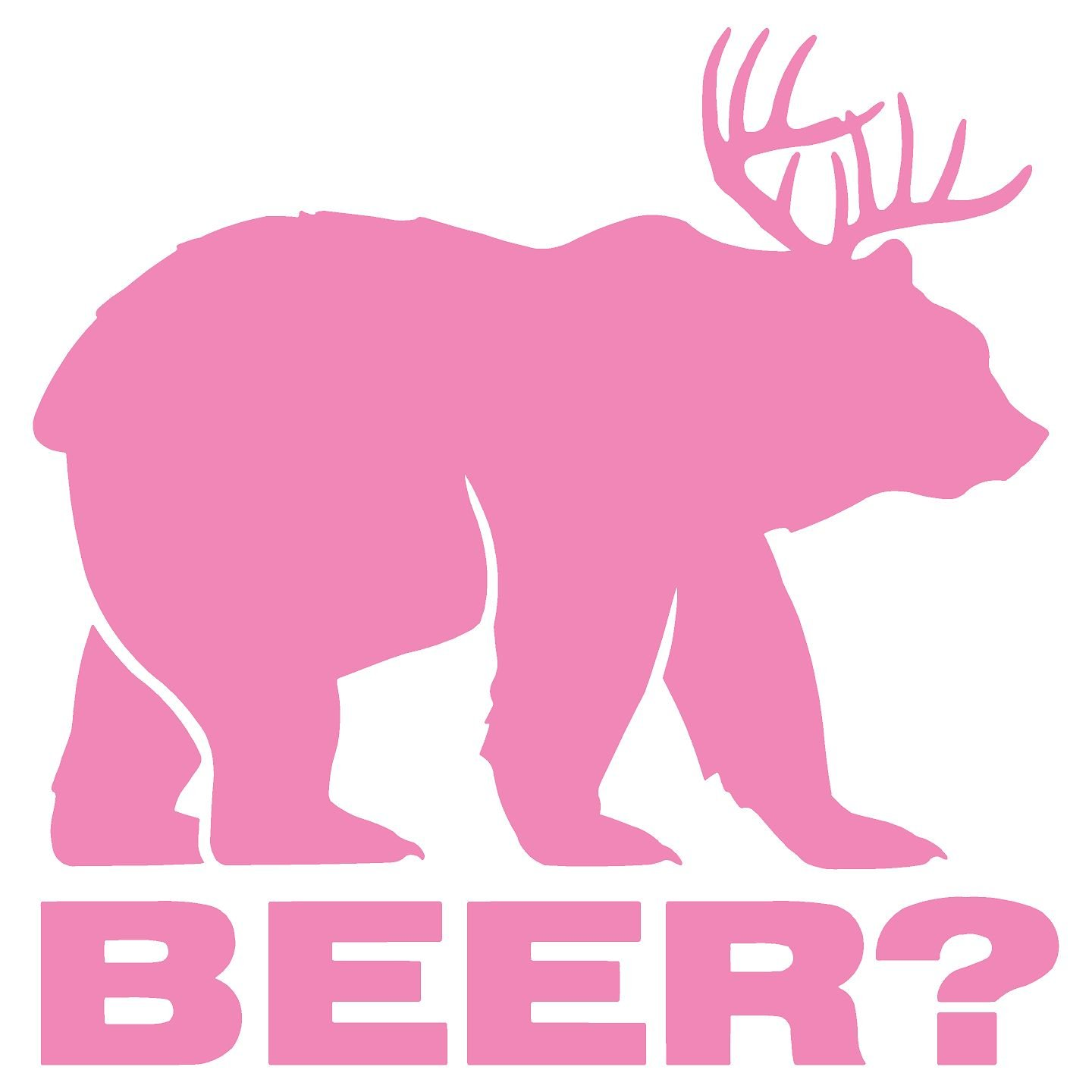 Bear plus Deer equals BEER Vinyl Die Cut Decal Sticker 5.50 White Decalorize Decalorize-B+B5.5