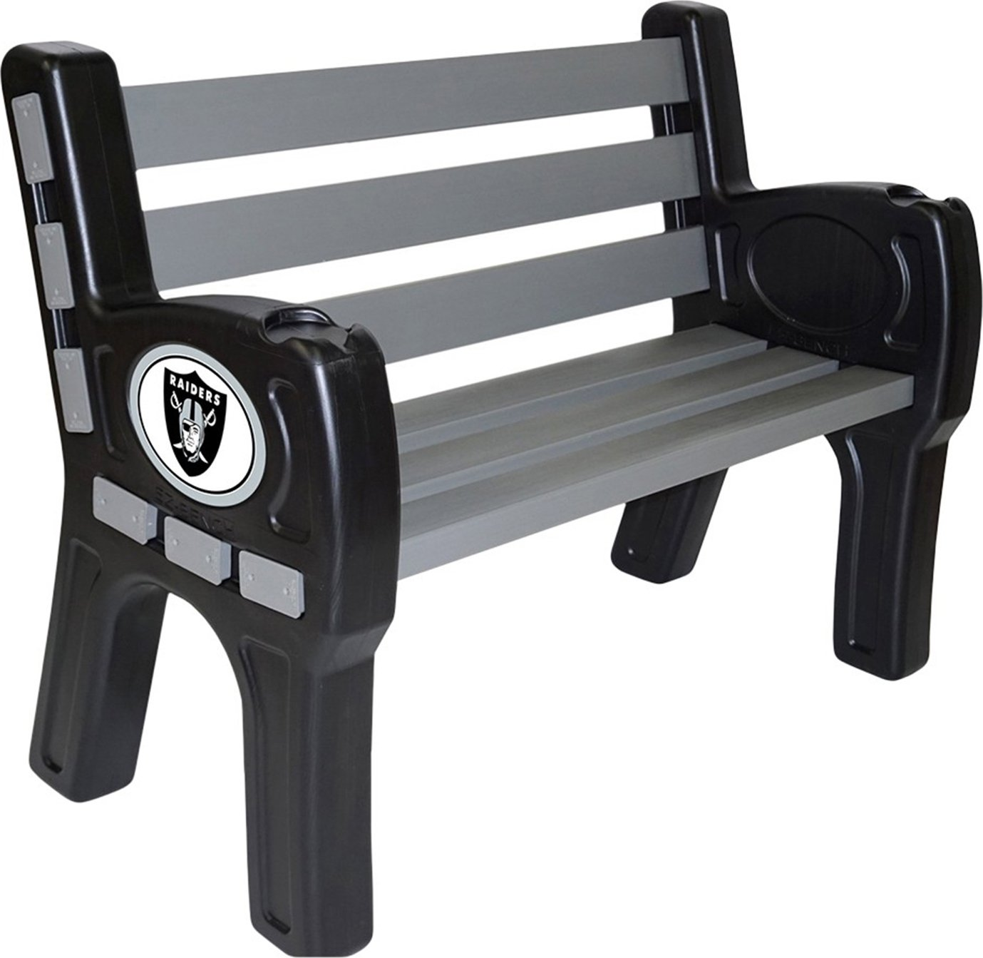 Imperial Officially Licensed NFLFurniture; Park Bench, Oakland Raiders