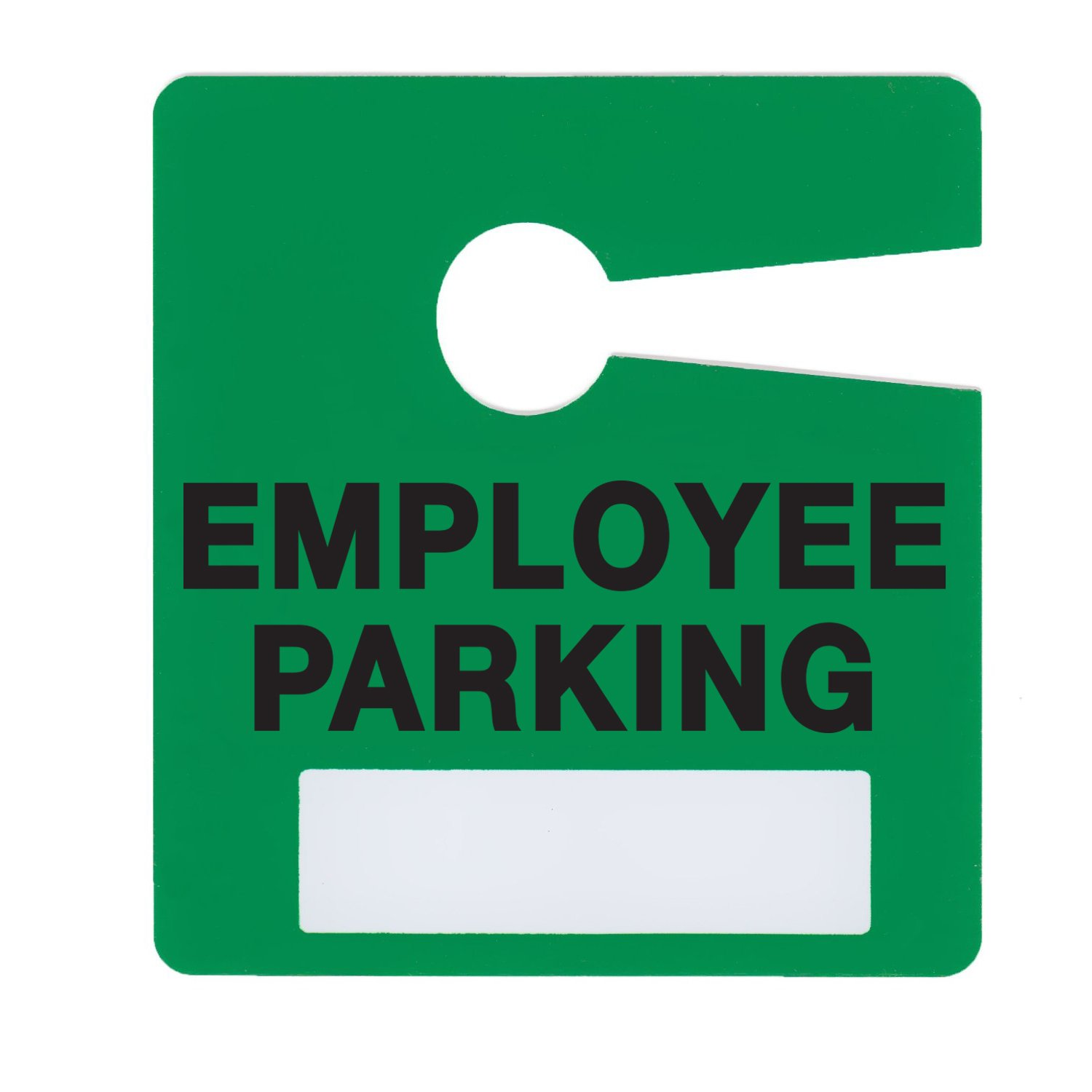 Employee Parking Permit Pass Stock Hang Tags for Office Building, Corporations, Businesses, Employers, by Milcoast,10 Pack (Green)