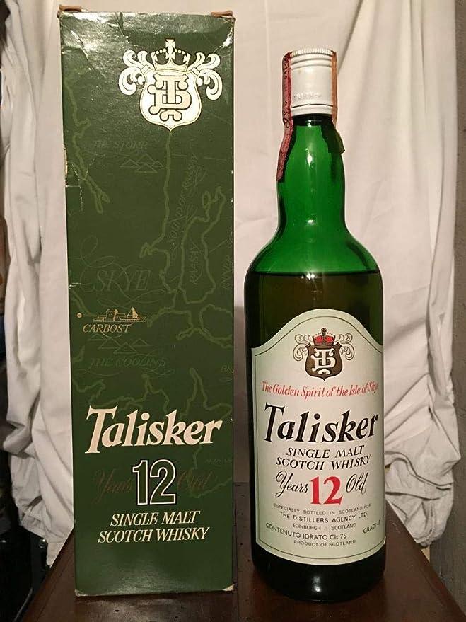 Talisker TD 12yo old bottle 1970s con estuche (nivel bajo) 75cl: Amazon.es: Alimentación y bebidas