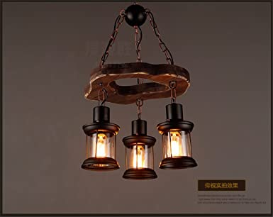 Plafoniere Con Base In Legno : Jhyqzyzqj lampadari lampade a sospensione plafoniere barca retrò