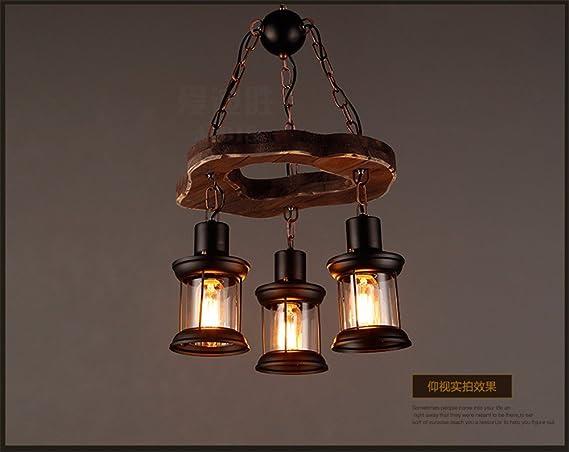 Plafoniere In Legno Rustico : Jhyqzyzqj lampadari lampade a sospensione plafoniere barca retrò