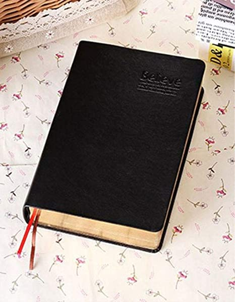 Amazon.com : Vintage Thick Leather Bible Notebook Blank ...