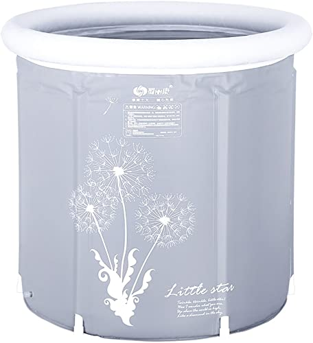TOYM US Bath Barrel Adult Folding Bracket Tub Plastic Home Thickening Insulation Body Adult Inflatable Bathtub Color 6570cm