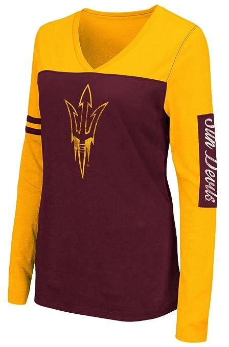 Arizona State Sun Devils ASU Women s Whatevs Long Sleeve Maroon V-Neck T- shirt 4dd7a8b0a