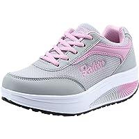 Morrivoe sneakers, de ocio para mujeres al aire libre de las zapatillas de Running ligeras que realzando los zapatos Soft Bottom balanceo cómodas suelas deportivas casual deportes transpirables zapatillas