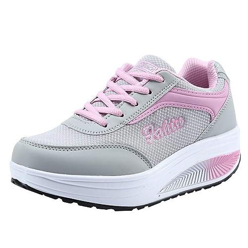 Cinnamou Zapatos para Mujer Zapatillas de Deportiva Slip on Huecos Sneakers para Caminar Walking Calzado Malla Transpirables Loafer Ligeros: Amazon.es: ...
