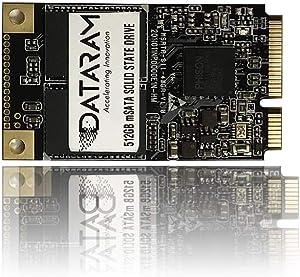 DATARAM mSata SSD, Internal Solid State Drive Mini Sata Disk (512GB)