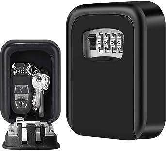 Caja fuerte para llaves, Candado de Seguridad con Combinación 4 ...