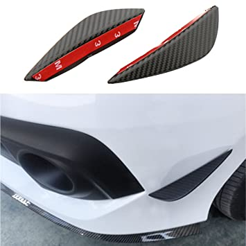 4 Pcs Carbon Effect Bumper Splitter Fin Spoiler Canard Valence Diffuser for Ford