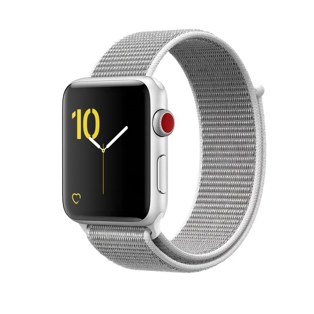 VATI Watch Sport Loop Band, Hook and Loop Fastener Adjustable Closure Wrist Strap Lightweight Breathable Nylon Replacement Band for Apple Watch Nike+, Series 3/2/1, Sport, Edition (38MM, Seashell) by VATI (Image #1)