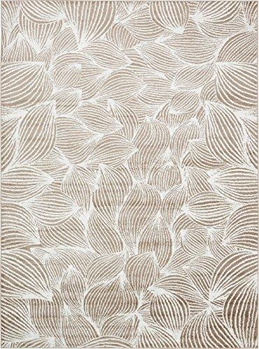 Unique Loom Metro Collection Abstract Curvy Lines Beige Area Rug (9' 0 x 12' - Metro Brown Rug Contemporary