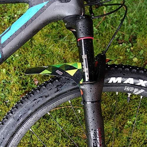 2pcs*MTB Mudguard Set Mountain Bike Bicycle Fender Front /& Rear RideGuard Black