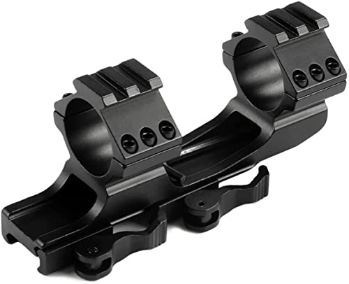 1 inch/30mm Quick Release Cantilever Weaver Forward Reach Dual Ring Rifle Scope Mount from Mizugiwa