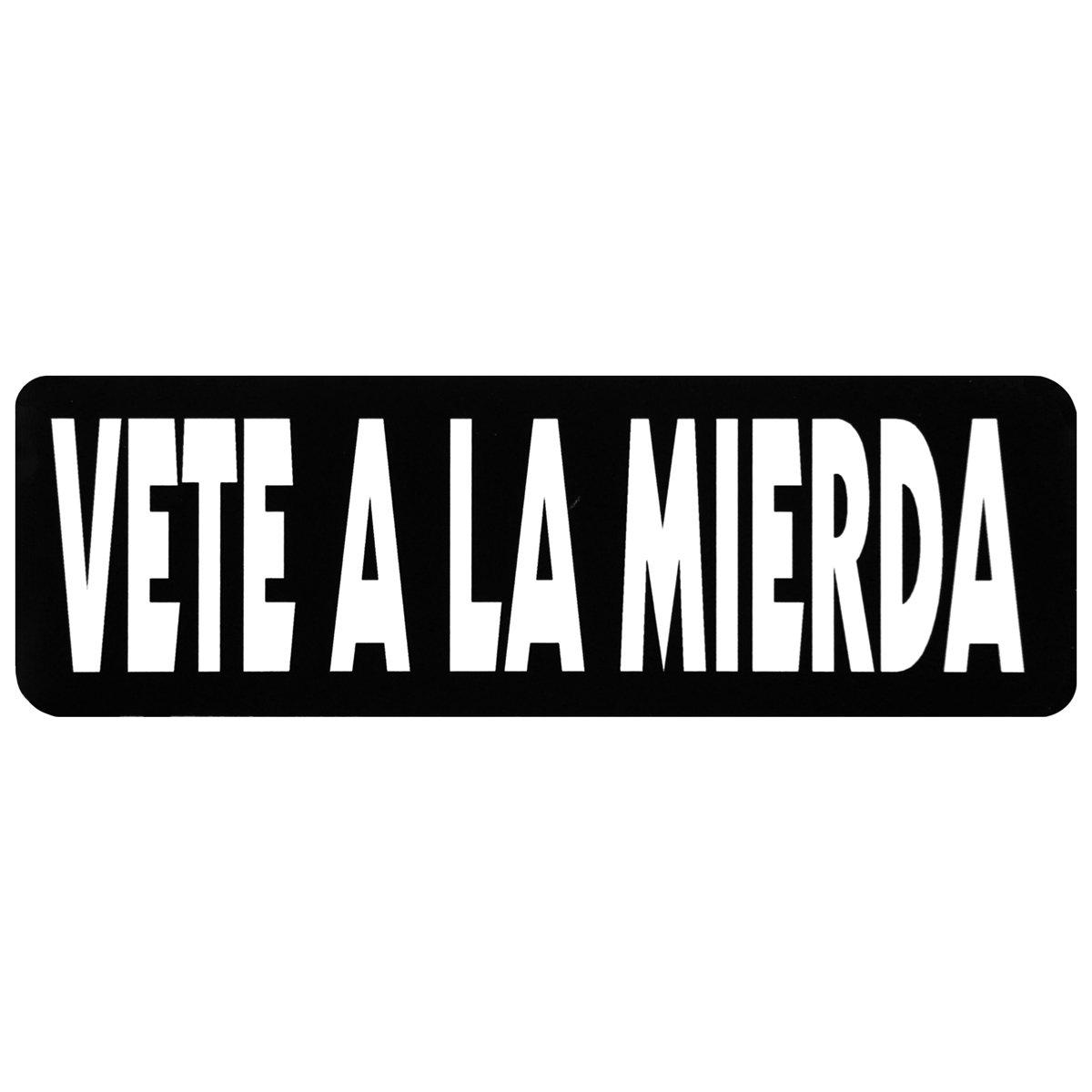 VETE A LA MIERDA, Motorcycle HELMET Sticker Decal - 4' X 1' Motorcycle HELMET Sticker Decal - 4 X 1 Officially Licensed Originals