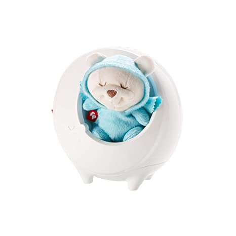 Fisher-Price Proyector osito dormilón, juguete de cuna para bebé (Mattel DYW48)