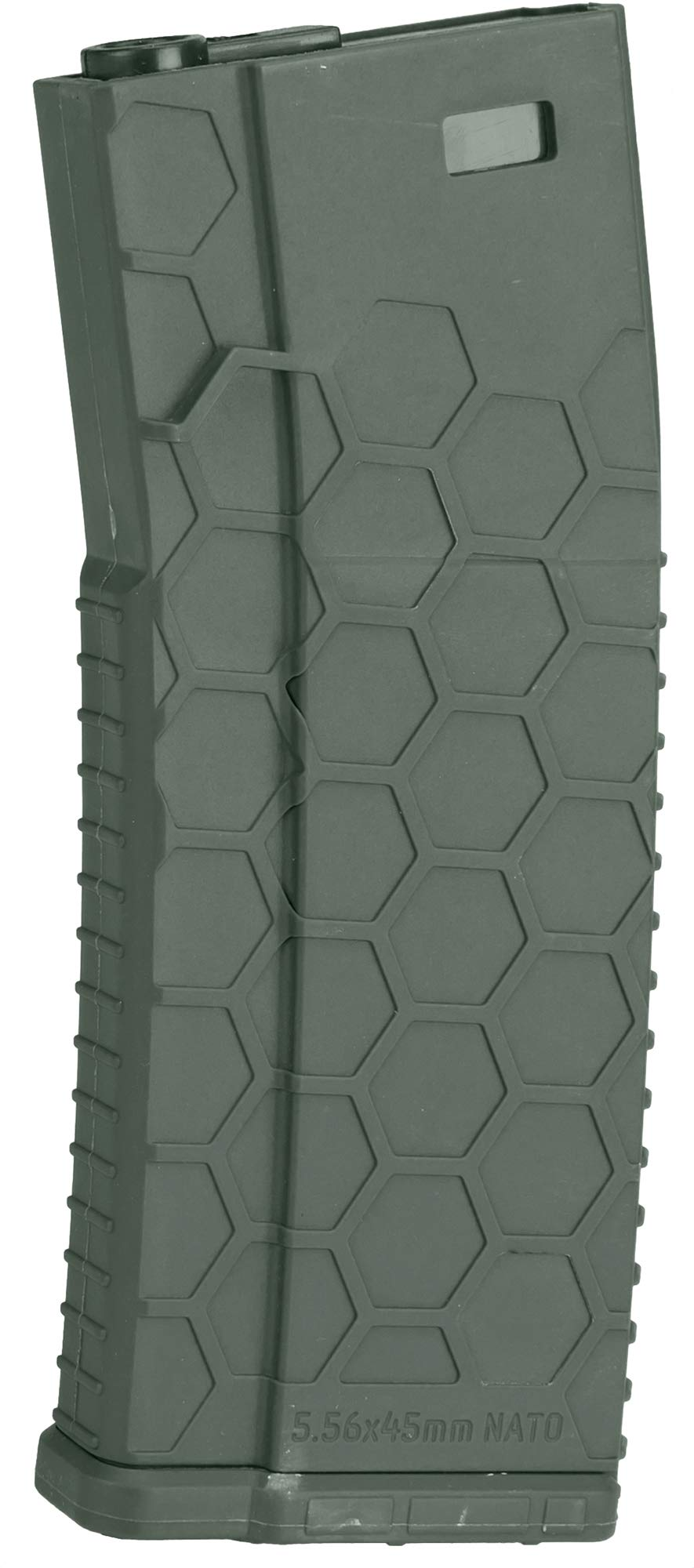 Evike Hexmag Airsoft 120rds Polymer Mid-Cap Magazine for M4 / M16 Series Airsoft AEG Rifles (Color: OD Green/Single) by Evike