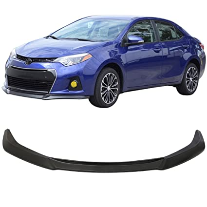 Toyota Corolla Xsp >> Front Bumper Lip Fits 2014 2016 Toyota Corolla Type S Gt Style Black Pu Front Lip Finisher Under Chin Spoiler Add On By Ikon Motorsports 2015