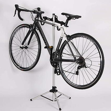 Soporte de Ajuste Rueda Bicicleta, Soporte reparación Bicicleta Trabajo Ajustable portátil Mantenimiento mecánico Herramienta Plegable para Sujetar bastidores estacionamiento Bicicletas Aluminio: Amazon.es: Deportes y aire libre