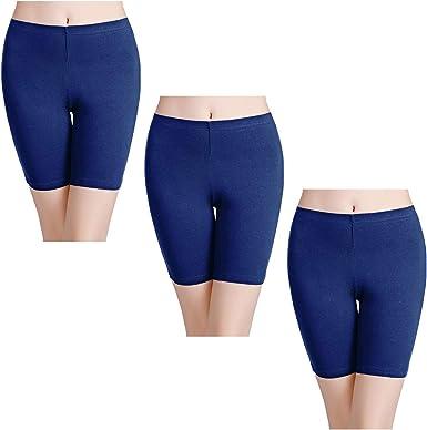 wirarpa Women's Anti Chafing Cotton Underwear Boy Shorts Long Leg Boyshorts Panties 3 Pack